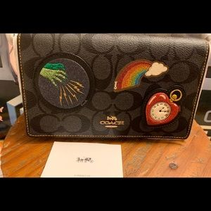 Coach Bags - Coach Wizard of Oz Black Patches Foldover Clutch
